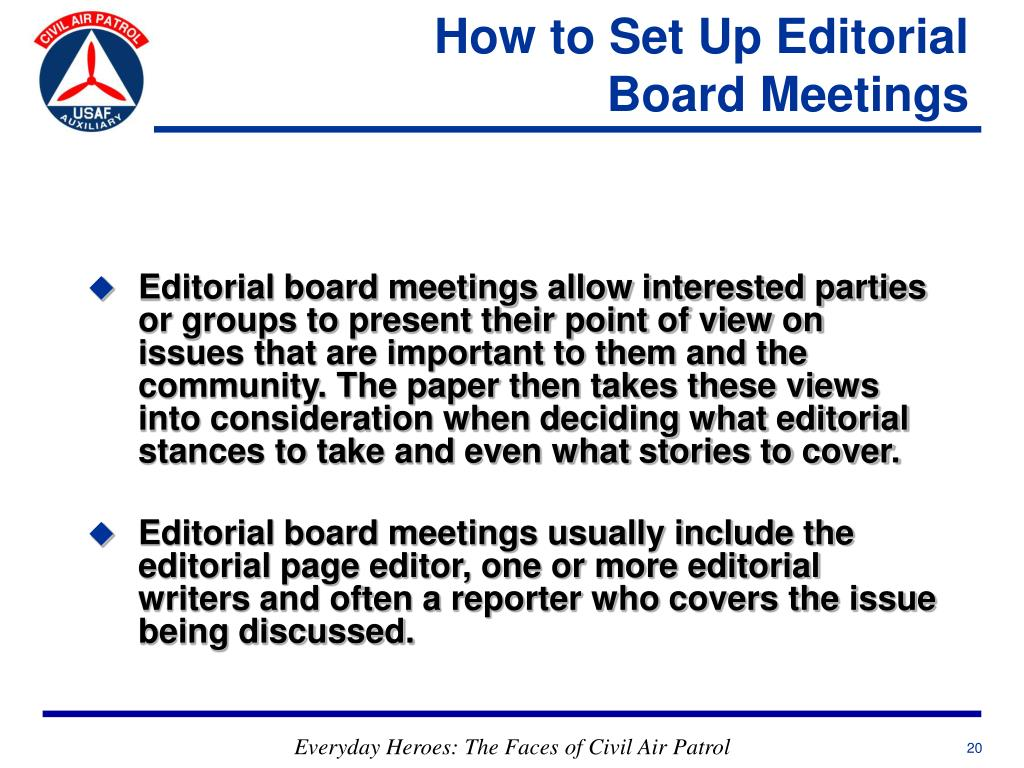 How to Set Up Editorial