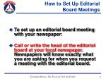 how to set up editorial board meetings21