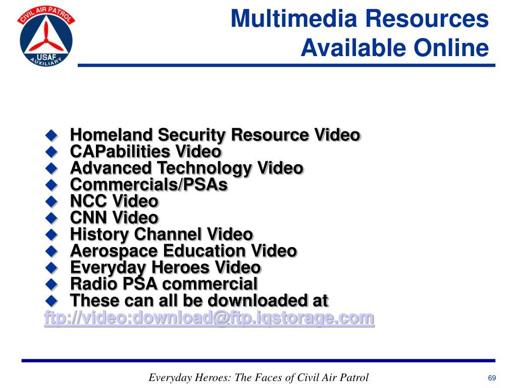 Multimedia Resources