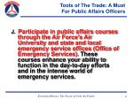 tools of the trade a must for public affairs officers67