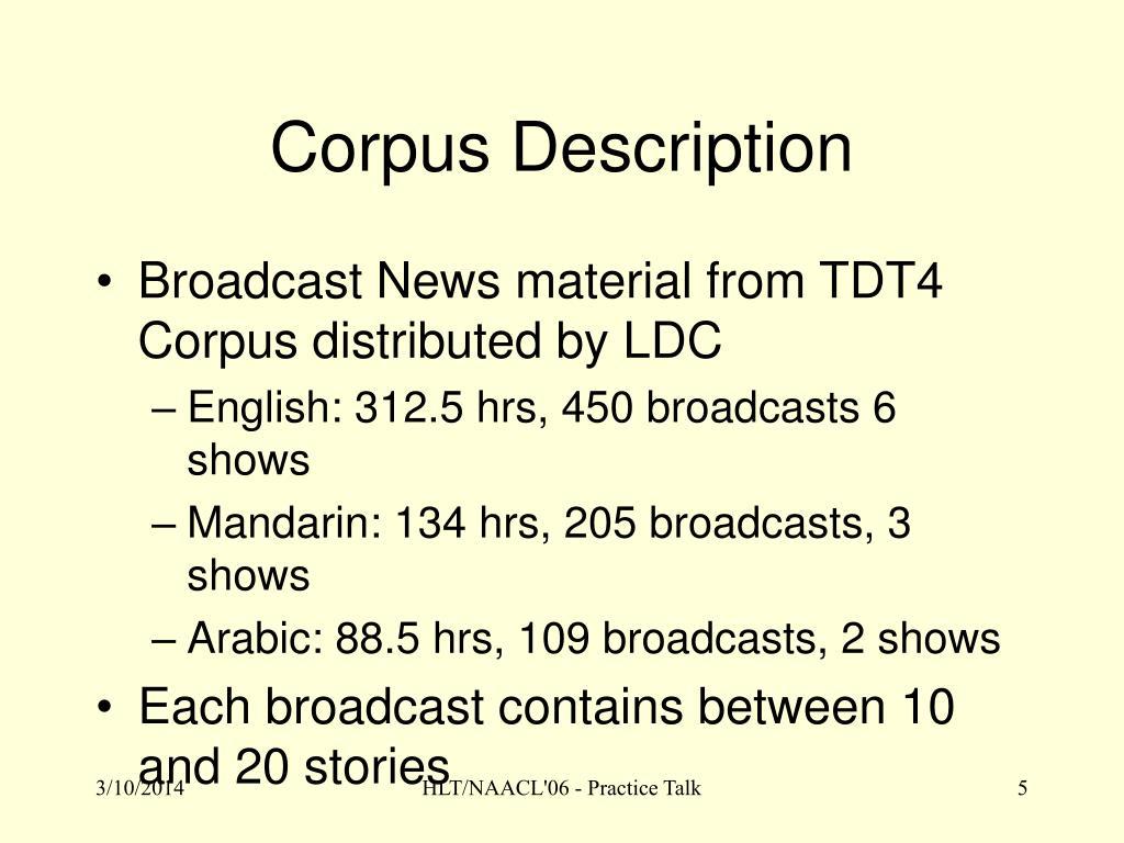 Corpus Description