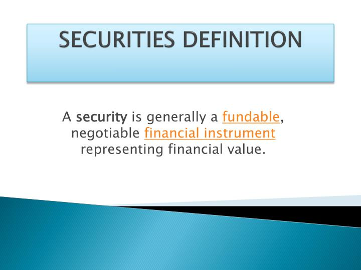 Securities definition