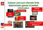 2 player zero sum discrete finite deterministic games of perfect information8
