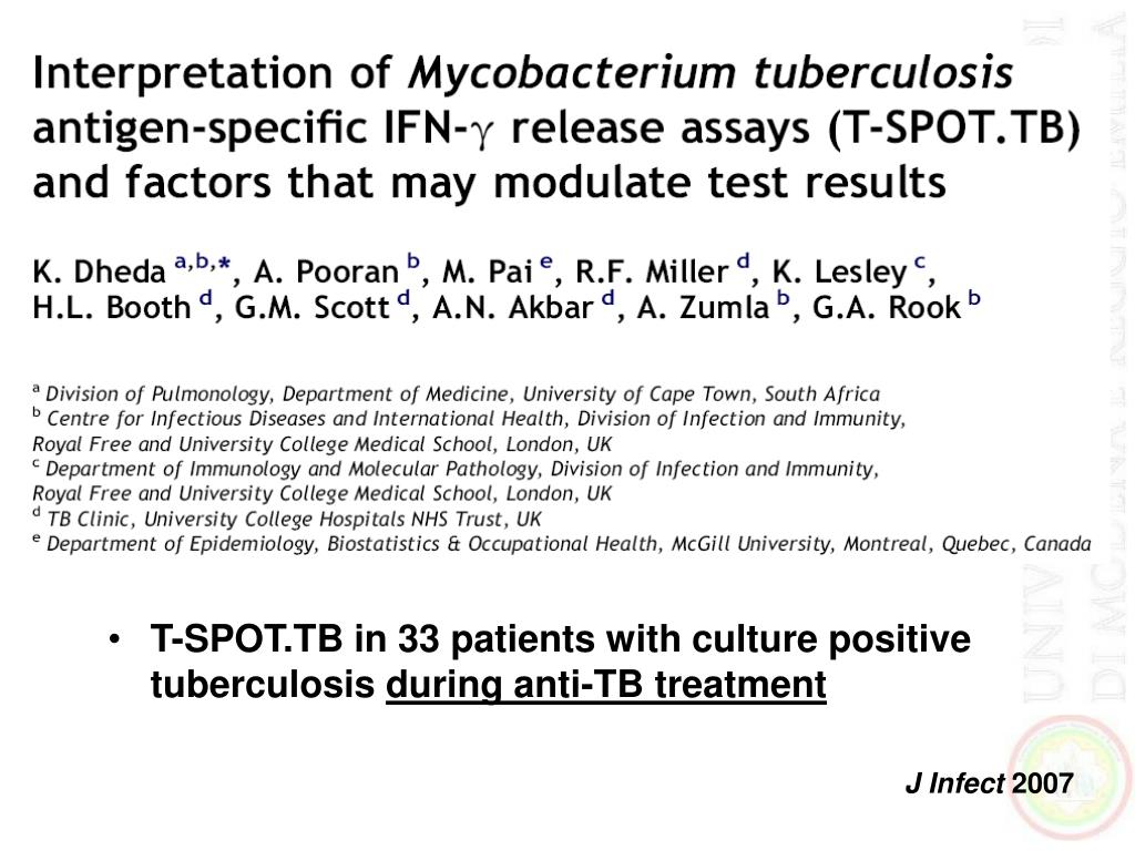 T-SPOT.TB in 33 patients with culture positive tuberculosis