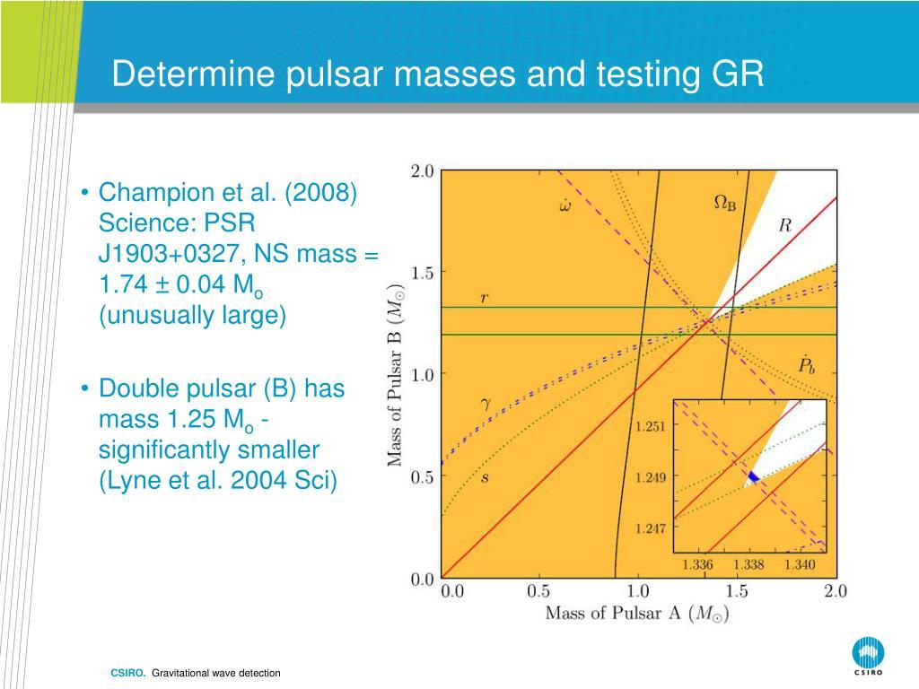 Determine pulsar masses and testing GR