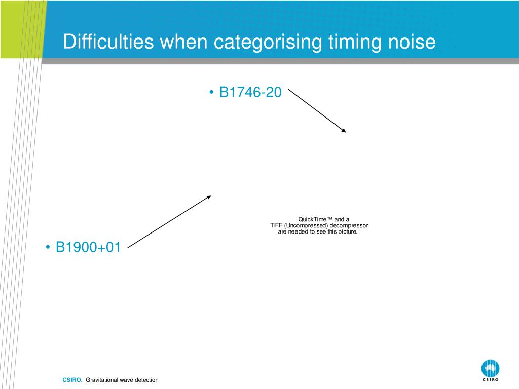 Difficulties when categorising timing noise
