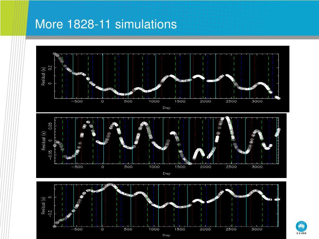 More 1828-11 simulations