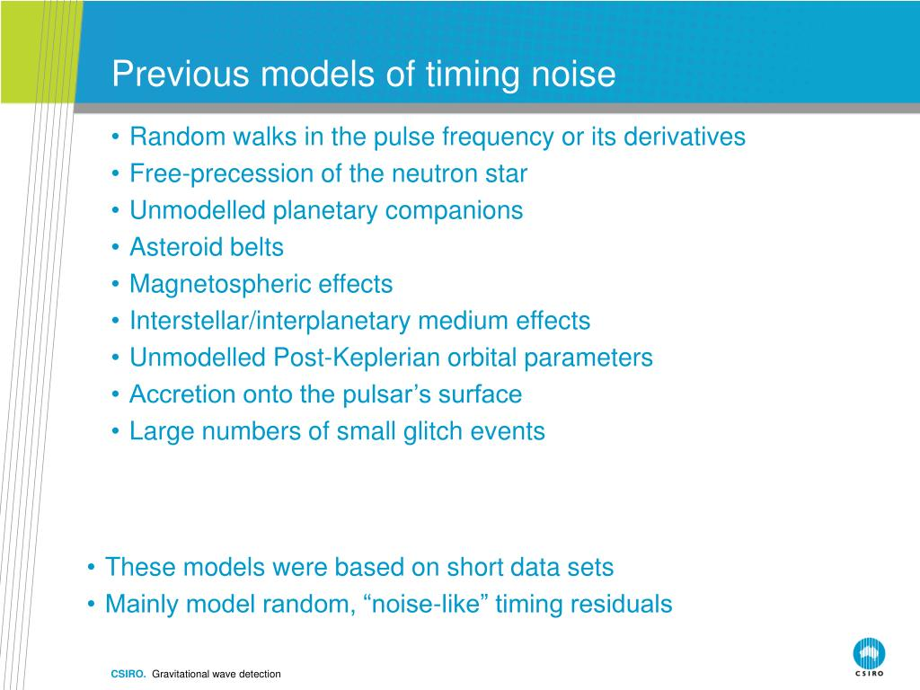 Previous models of timing noise
