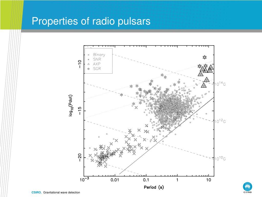 Properties of radio pulsars
