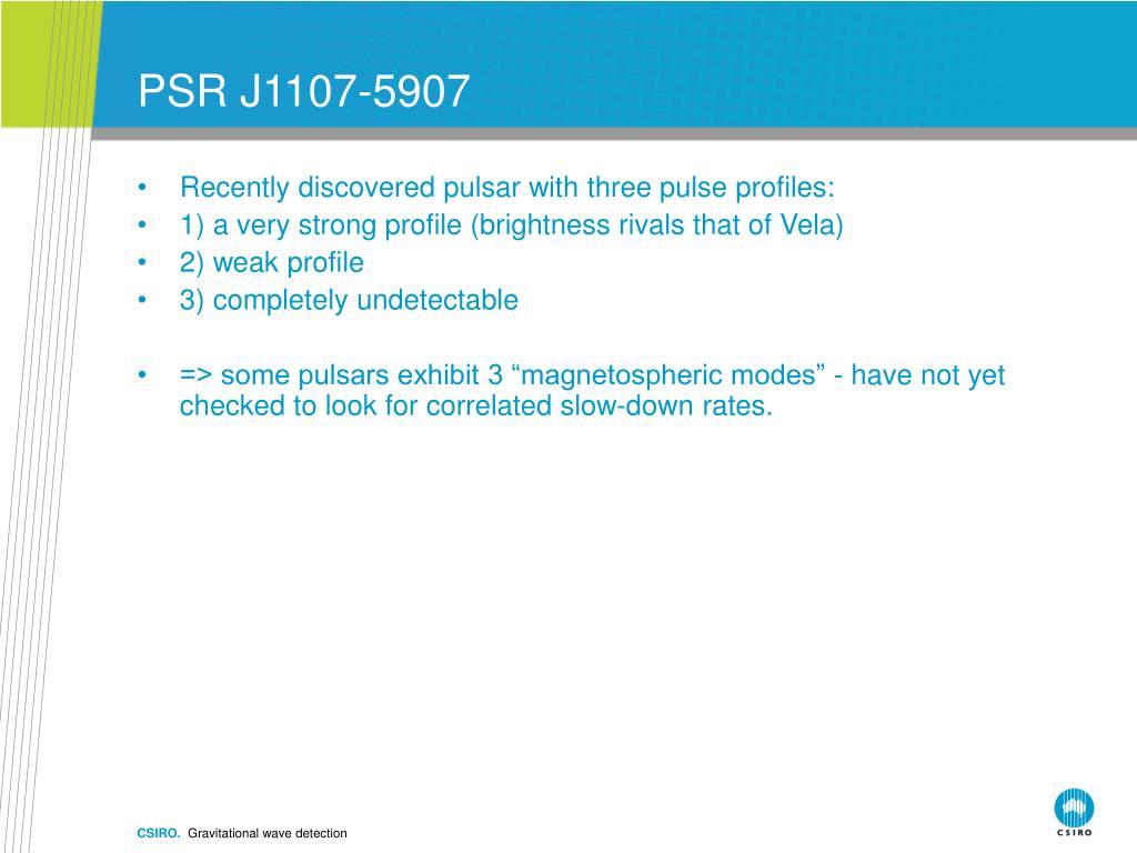 PSR J1107-5907