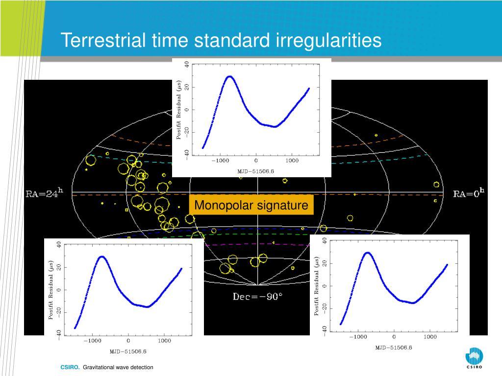 Terrestrial time standard irregularities