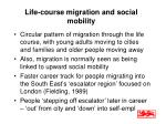 life course migration and social mobility