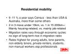 residential mobility