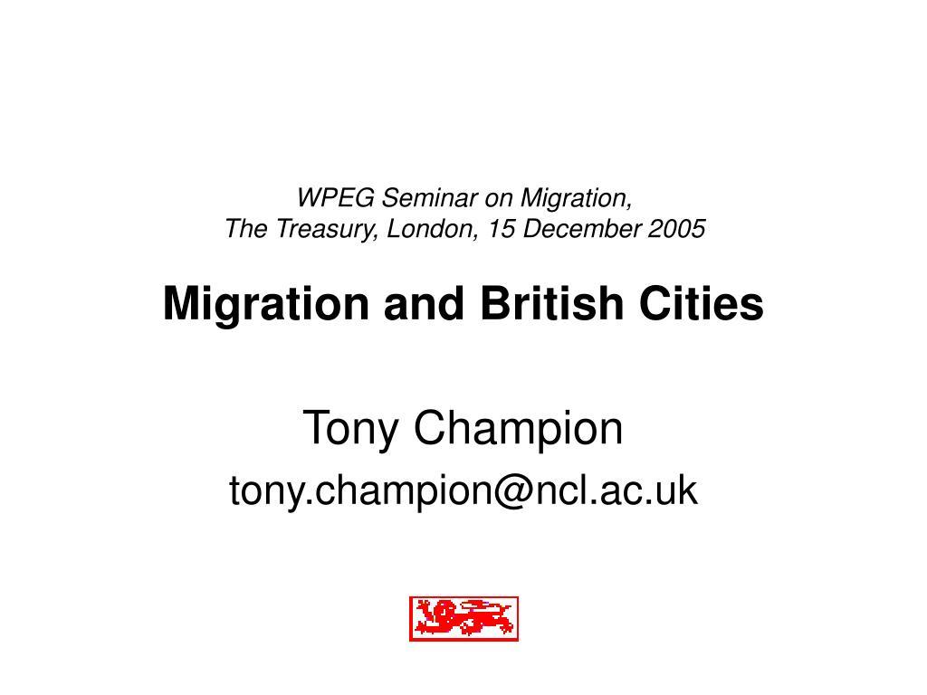 WPEG Seminar on Migration,