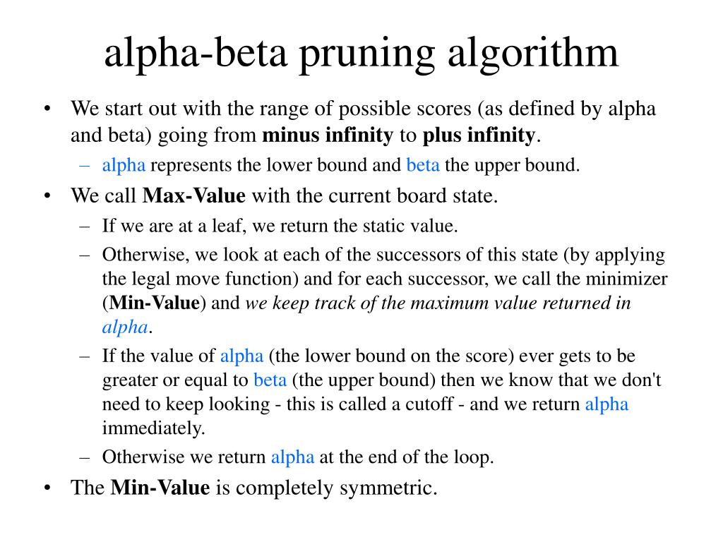 alpha-beta pruning algorithm