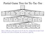 partial game tree for tic tac toe