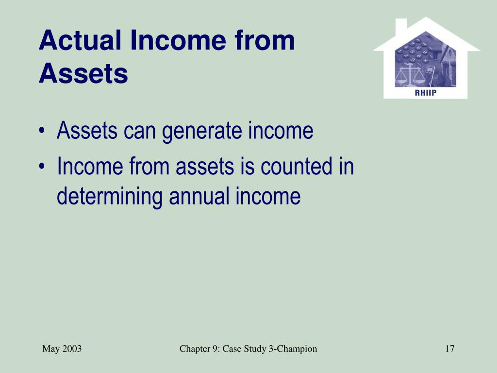 Actual Income from Assets