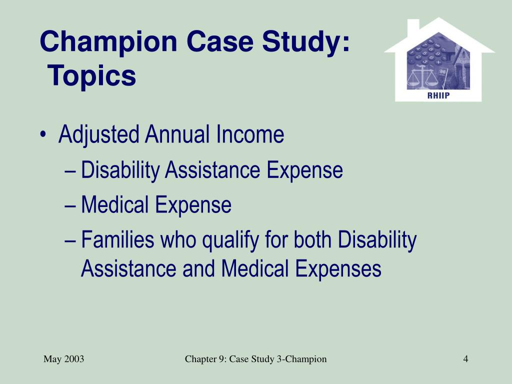 Champion Case Study: