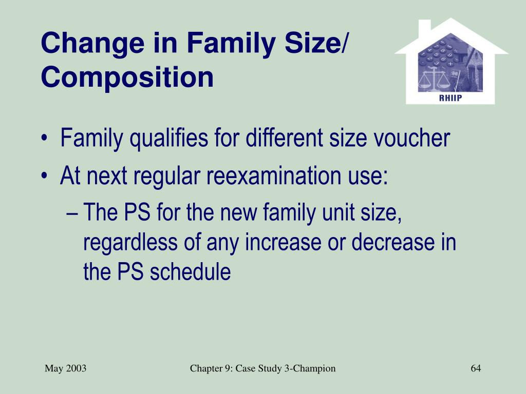 Change in Family Size/ Composition