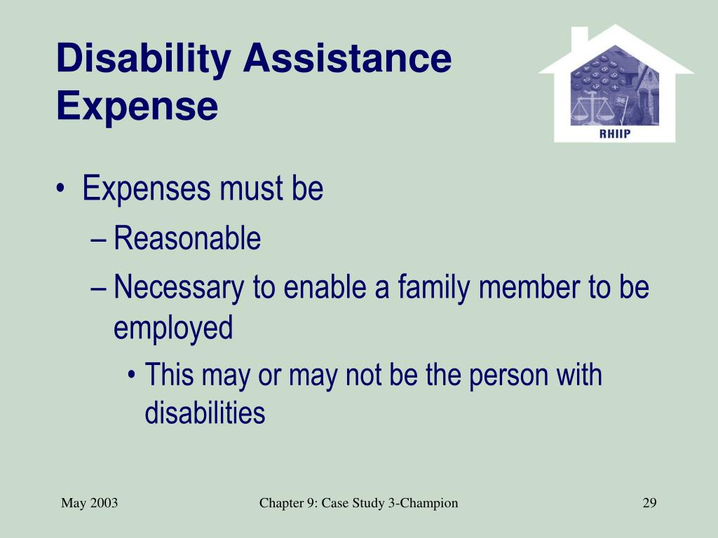 Disability Assistance Expense