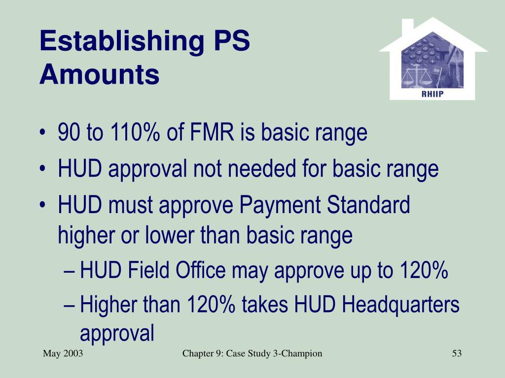 Establishing PS Amounts