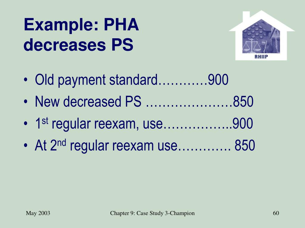 Example: PHA decreases PS