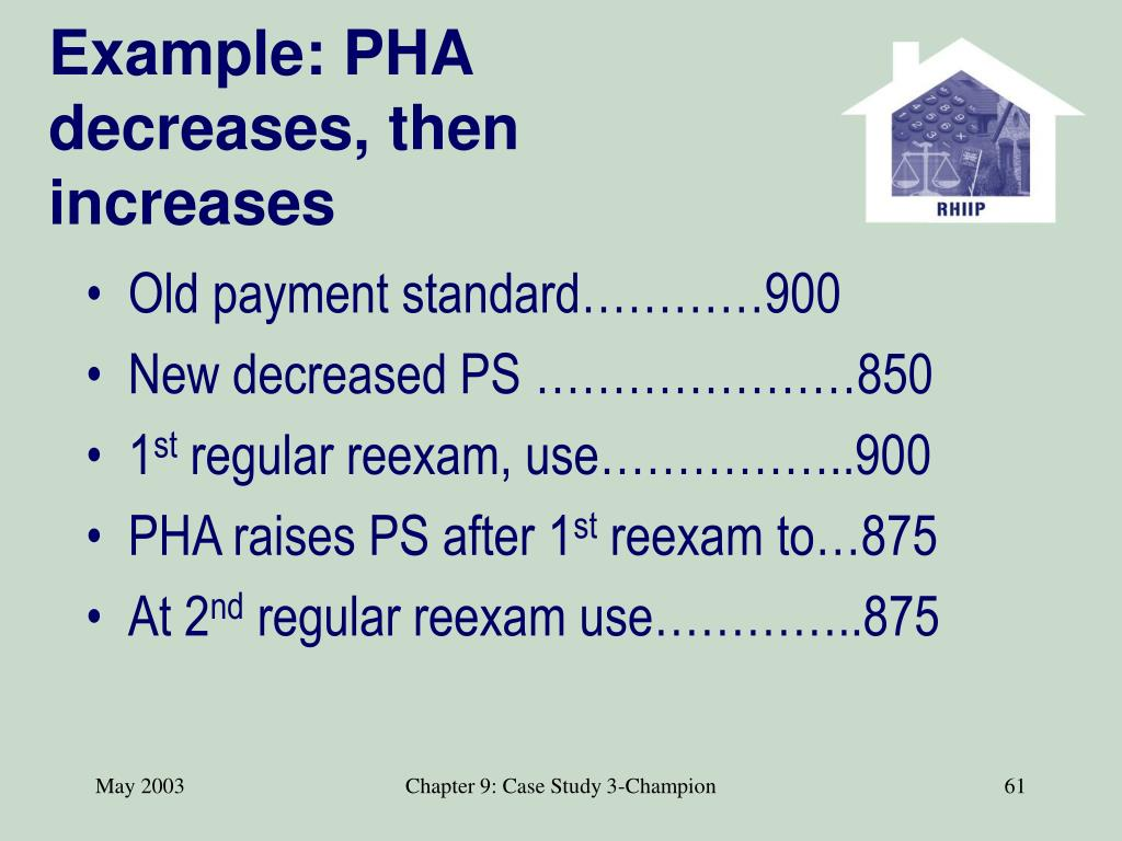 Example: PHA decreases, then increases