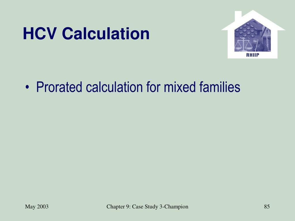HCV Calculation