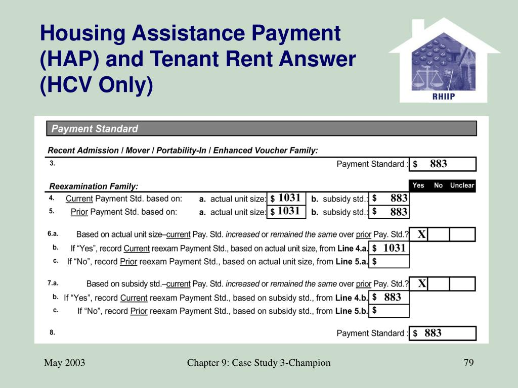 Housing Assistance Payment (HAP) and Tenant Rent Answer