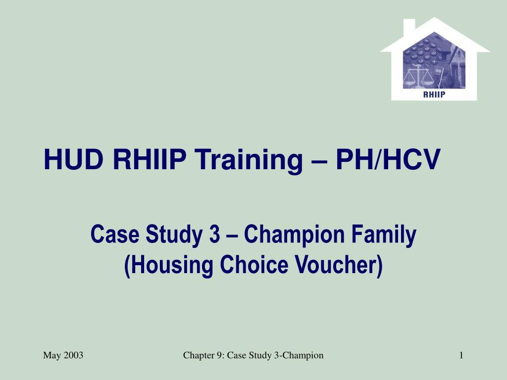 HUD RHIIP Training – PH/HCV
