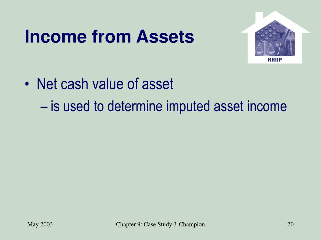 Income from Assets