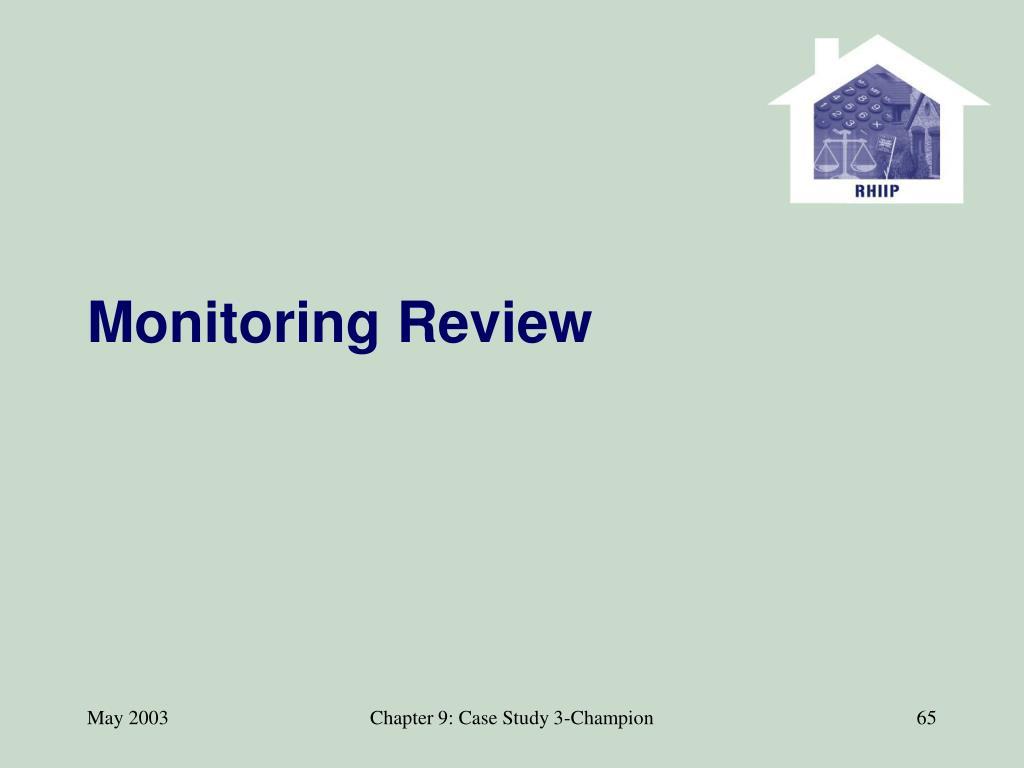 Monitoring Review