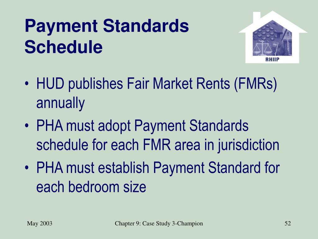 Payment Standards Schedule