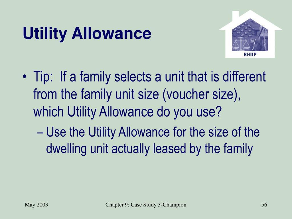 Utility Allowance