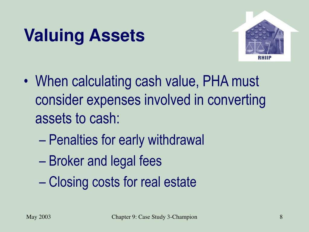 Valuing Assets