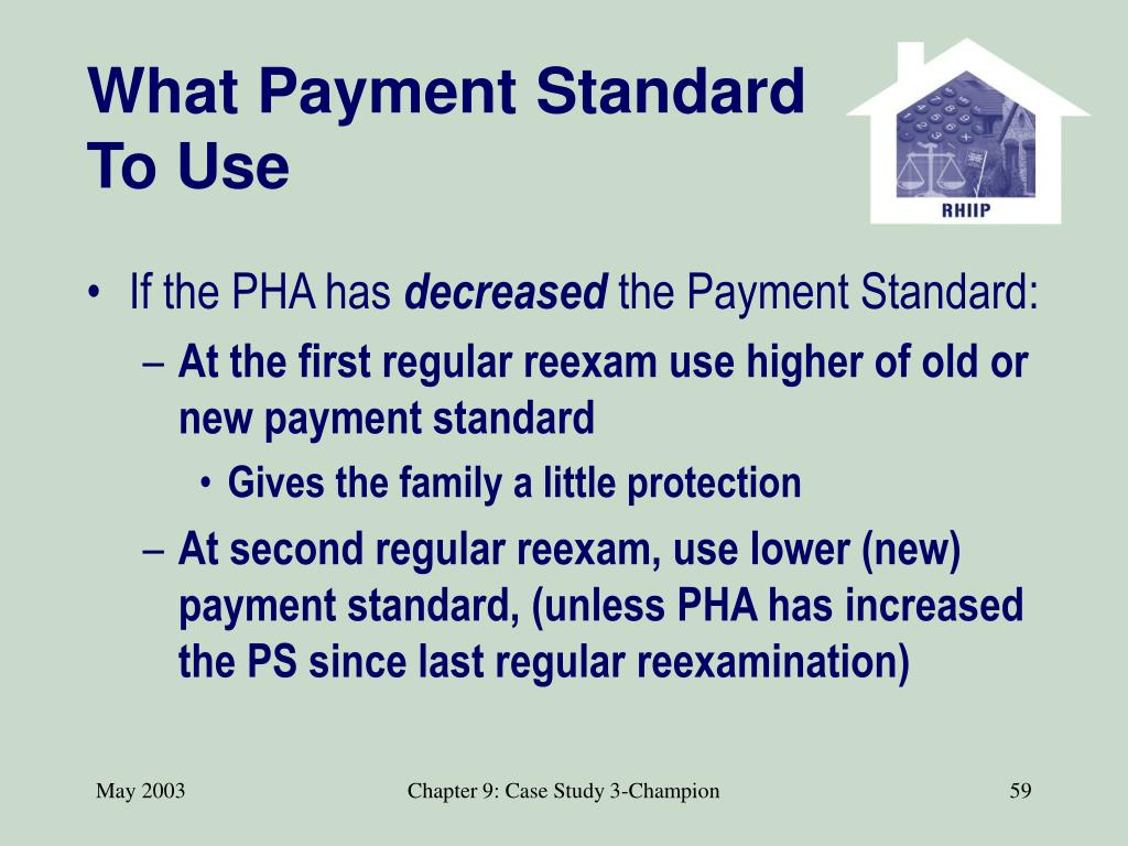 What Payment Standard To Use