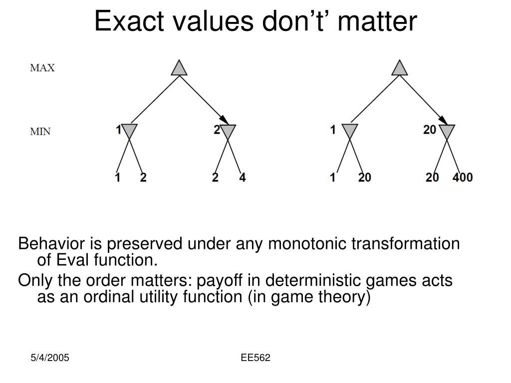 Exact values don't' matter