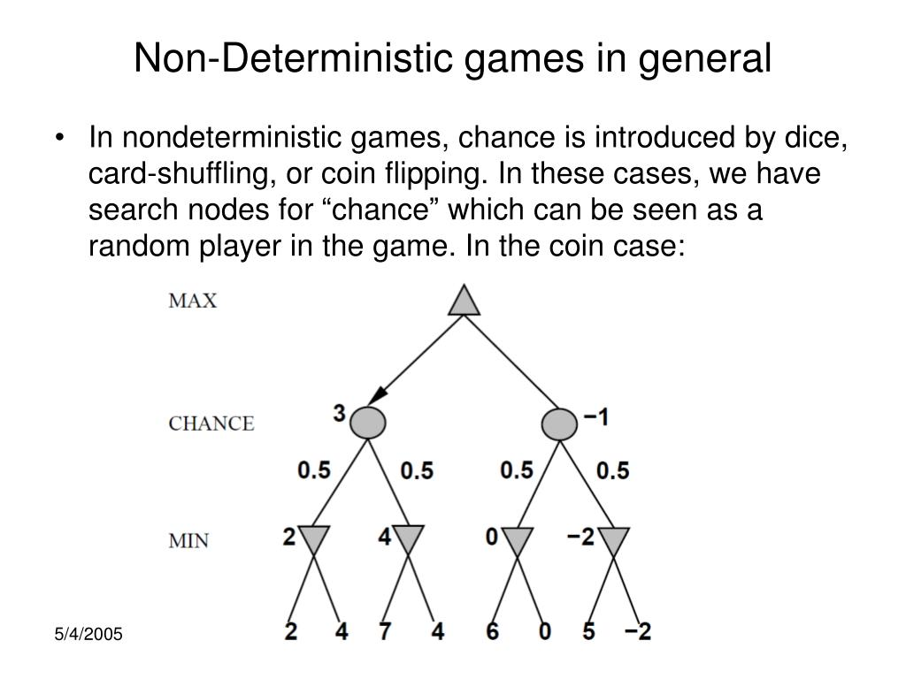 Non-Deterministic games in general