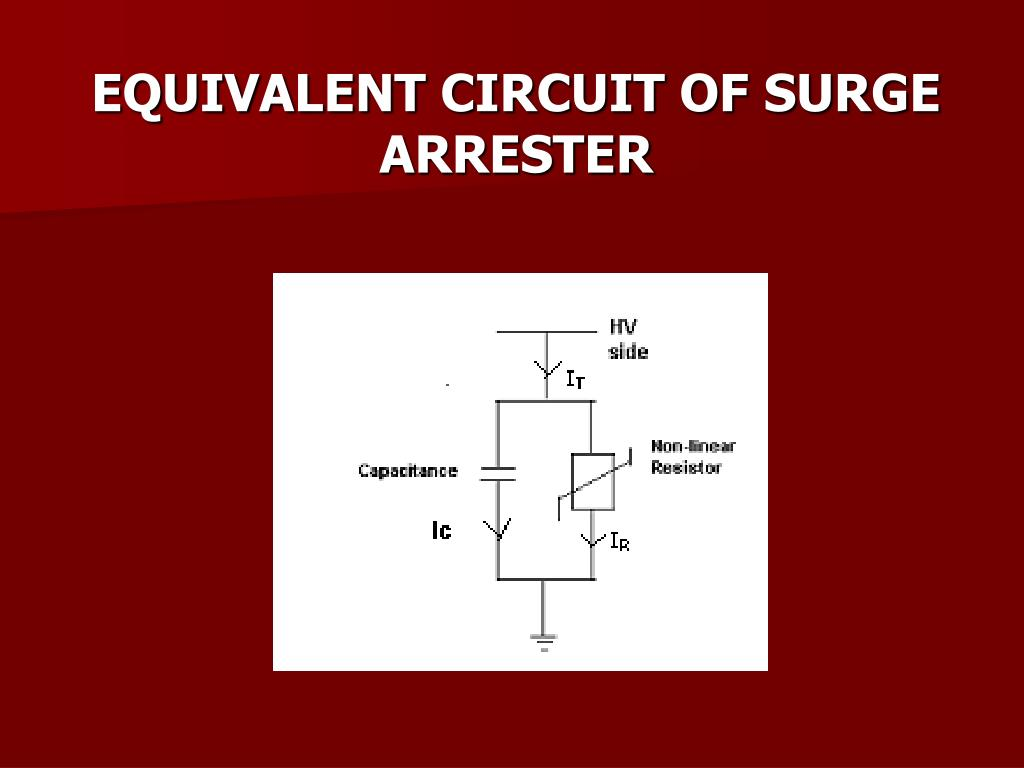 EQUIVALENT CIRCUIT OF SURGE ARRESTER