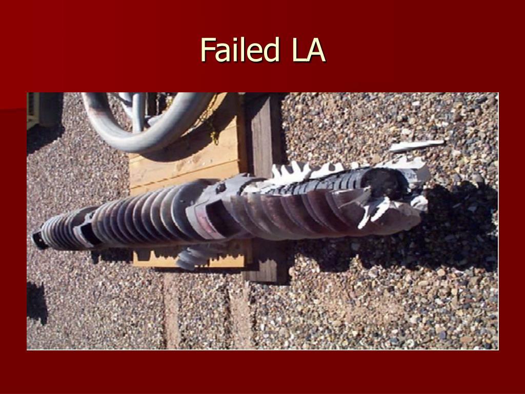 Failed LA