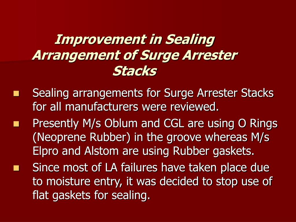 Improvement in Sealing Arrangement of Surge Arrester Stacks