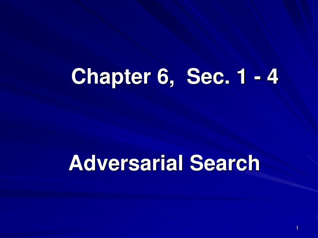 Chapter 6,  Sec. 1 - 4