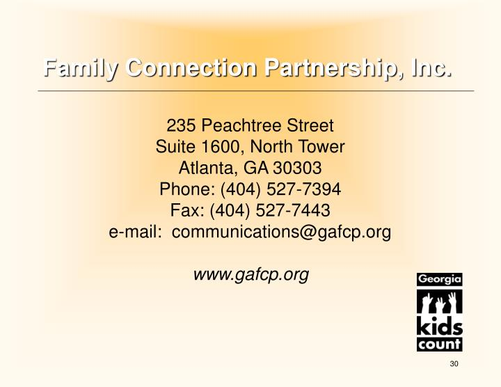 Family Connection Partnership, Inc.