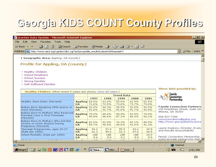 Georgia KIDS COUNT County Profiles