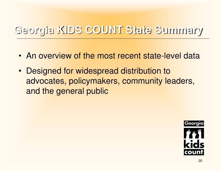 Georgia KIDS COUNT State Summary