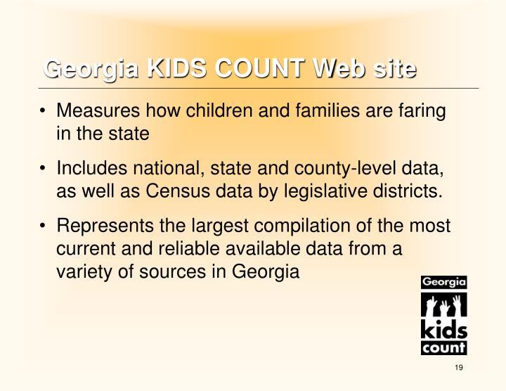 Georgia KIDS COUNT Web site