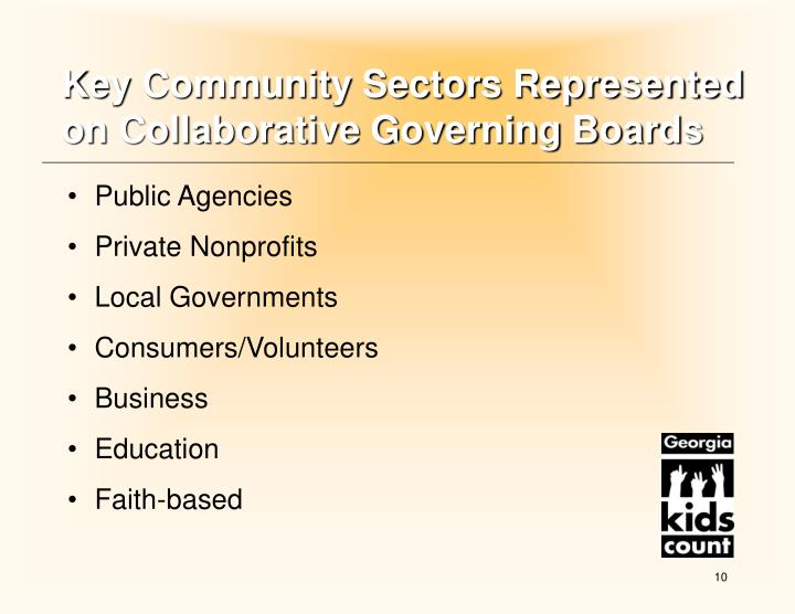 Key Community Sectors Represented