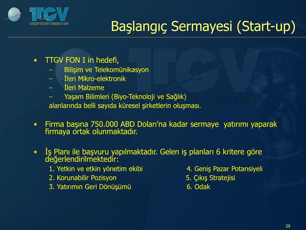 Başlangıç Sermayesi (Start-up)