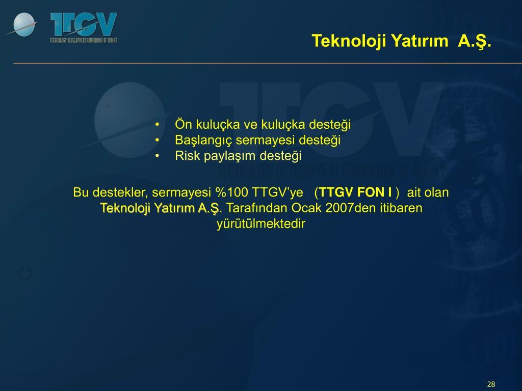 Teknoloji Yatırım  A.Ş.