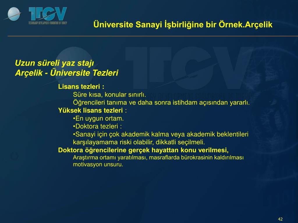 Üniversite Sanayi İşbirliğine bir Örnek.Arçelik